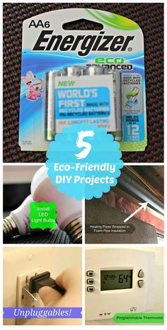 5 Eco-Friendly DIY Projects http://scrappygeek.com/5-eco-friendly-diy-projects/ #cbias #ad #BringingInnovation