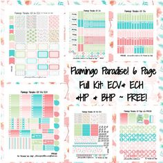Flamingo planner stickers to print