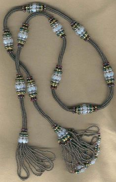 Ndebele Lariat Necklace by Doris Coghill Beaded Jewelry Designs, Seed Bead Jewelry, Bead Jewellery, Jewelery, Handmade Jewelry, Jewelry Crafts, Jewelry Art, Beads And Wire, Lariat Necklace