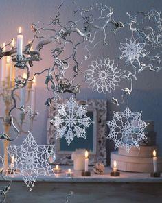 65 Ideas For Crochet Christmas Star Ornament Snowflake Pattern Star Ornament, Snowflake Ornaments, Christmas Snowflakes, Christmas Star, Christmas Ornaments, Christmas Patterns, Christmas Trees, Crochet Snowflake Pattern, Crochet Snowflakes