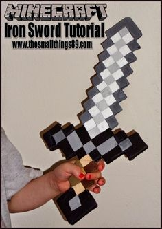 The Small Things- Review Blogger| Giveaway Blogger | Travel Blogger: How To Make A Minecraft Sword {DIY}