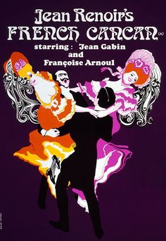French Cancan British Poster by Roslav Szaybo (Paris by night, S Sep 2011)
