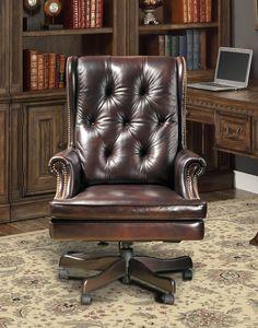 Prestige Leather Desk Chair