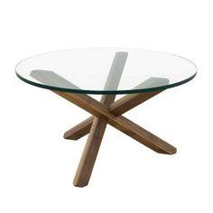 Rohan Recycled Wood Iron Coffee Table Rustic