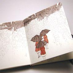I'm a huge Jen Corace fan, and her sketchbooks are swoon worthy.