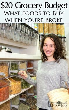 What foods to buy when you are broke. Here is a list of low-cost foods that you can buy to make quality meals, along with tips on how to stretch a small food budget. Frugal Meals, Cheap Meals, Budget Meals, Food Budget, Budget Recipes, Budget Cooking, Cheap Food, Money Budget, Easy Recipes