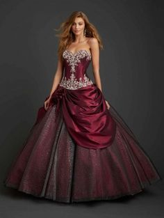 Dresses Look your best at the Prom. Planning your big night out is easy with red ball gowns with sleeves. Step this way for prom dresses in long and short Masquerade Ball Dresses, Ball Gowns Prom, Ball Gown Dresses, Prom Dresses, Wedding Dresses, Quince Dresses, Masquerade Party, Gown Wedding, Floral Dresses
