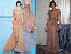 Milla Jovovich In Elie Saab Couture – Academy Of Motion Picture Arts And Sciences' Scientific & Technical Awards