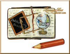 Outstanding Teacher Book Limoges Box by Beauchamp
