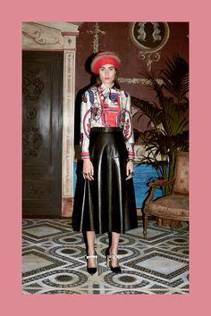 Middi Black Skirt Gucci Prefall 2016