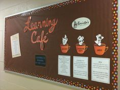 Coffee Shop Themed Classroom | Cafe Menu - What they will learn during the school year... preschool ...