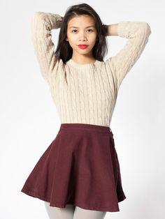 American Apparel - Corduroy Circle Skirt  Color :Truffle $45