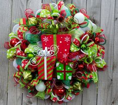 Gorgeous Extra Large Merry Christmas by ourinspiredcreations Maybe with our initial instead of gifts in the middle.