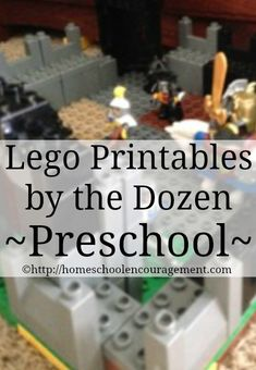 Lego Fans? I've Found Free Lego Printables By the Dozen! This post is a Baker's Dozen of links to awesome lego printables for preschool! from #HSencouragement #Homeschool