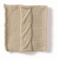 Free Knitting Pattern - Stitch Patterns: Tower of Song Cable Stitch