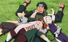 shikamaru, choji, ino and asuma/ Aww, that's cute