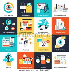 Flat Design Concepts For Business Web Design Tips, Freelance, Online Money Transfer, Global Market, Education, E Banking,E Commerce. Concepts And Icons For Web Banners, Apps And Promotional Materials. Stock Vector 225031288 : Shutterstock