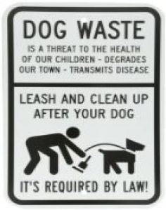 """SmartSign Aluminum Sign, Legend """"Dog Waste - Leash and Clean Up After Your Dog"""" with Graphic, 18"""" high x 12"""" wide, Black on White //  Description DogPoop Signs heavy-duty aluminum rectangle pick up poop sign. Legend Dog Waste is a Threat to the Health of our Children . . .Leash and Clean Up After Your Dog with graphic. Convince dog owners to control their dogs. Don't allow the dogs to and their ow// read more >>> http://Romo473.iigogogo.tk/detail3.php?a=B0089OSVOG"""