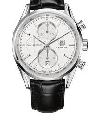 TAG Heuer -  CARRERA  CALIBRE 1887<br/>AUTOMATIC CHRONOGRAPH<br/>41 mm Silver Leather bracelet - Find all the information about your favorite TAG Heuer models on our official website, features, pictures, retailers and much more.