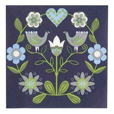 Image detail for -Finnish Paper Napkins - Blue Bird Scandinavian Pattern, Scandinavian Folk Art, Arte Popular, Naive Art, Illustrations, Applique Quilts, Art Google, Pattern Art, Pattern Wallpaper