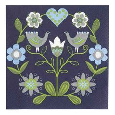 Image detail for -Finnish Paper Napkins - Blue Bird