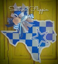Check out this item in my Etsy shop https://www.etsy.com/listing/478672481/dallas-cowboys-texas-state-door-hanger