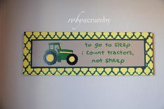 in New Holland instead Robyn Crumby: Canvas Art: John Deere Nursery John Deere Nursery, John Deere Bedroom, John Deere Baby, Tractor Nursery, Tractor Room, Red Tractor, Nursery Canvas, Canvas Art, Canvas Ideas