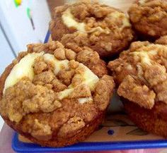 Pumpkin Cheesecake Muffins #recipes #inspireothers