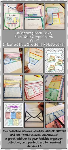 Interactive Notebook - Informational Text... awesome set of foldable organizers and anchor posters!
