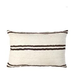 Beige with Brown Stripes Mudcloth Pillow