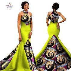 2017 African Women Long Dresses Dew Shoulders Women Formal Elegant Dresses Print Wax Party Gowns Plus Size Dress Female African Wedding Dress, African Print Dresses, African Print Fashion, African Fashion Dresses, African Dress, African Formal Dress, Formal Dresses, African Attire, African Wear