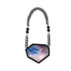 Galactic Jewlery Lines The 'Nebula' Collection by Drown Jewellery is... ❤ liked on Polyvore featuring jewelry, necklaces, palm tree jewelry, galaxy necklace, planet necklace, palm jewelry and palm tree necklace