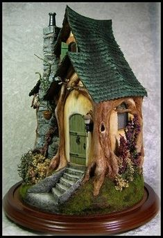 Acorn Wood Cottage - $1,500.00 : Jill Castoral, Miniatures & More