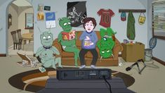 Jeff & Some Aliens: New Animated Series Coming to Comedy Central - canceled + renewed TV shows - TV Series Finale Comedy Cartoon, Cartoon Tv, Cartoon Network Adventure Time, Adventure Time Anime, Series Premiere, Jokes For Kids, Homer Simpson, Comedy Central, Parks And Recreation