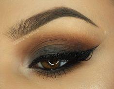 Makeup Geek Eyeshadow in Corrupt and Morocco. Makeup Geek Gel Liner Immortal. Look by: Natalia Piotrowicz.