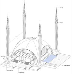 He had won the competition, but even though he was finally laid … - Pin This Mosque Architecture, Religious Architecture, Urban Architecture, Architecture Drawings, Concept Architecture, Futuristic Architecture, Architecture Details, Islamic World, Islamic Art