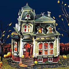 department 56 halloween village rickety railroad station hiddentreasuresdecorandmore collectible figurines pinterest halloween village