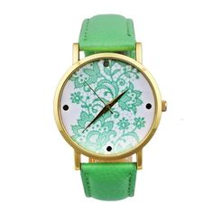 Fashion Watches women Quartz Watches PU Leather Flower Print