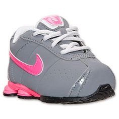 Girls' Toddler Nike Shox Classic Running Shoes | Finish Line | Cool Grey/Hyper Pink/Pure Platinum