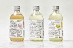 This Kombucha Brand Incorporates a Variety of Design Elements In Order to Look Fresh Kombucha Bottles, Kombucha Tea, Juice Bottles, Beverage Packaging, Brand Packaging, Design Packaging, Packaging Ideas, Alchemist Cocktails, Granola