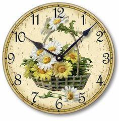 Item C6100 Vintage Style Victorian Daisy Clock