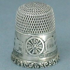 Antique Sterling Silver Dar Thimble Daughters of The American Revolution C1920s | eBay