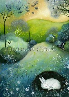Woodland Edge - Original acrylic painting by Amanda Clark