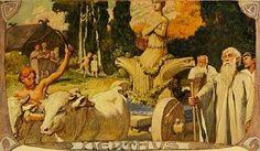 En las antiguas creencias nórdicas se les atribuía a las runas un origen divino, como quedo reflejado en la estela de Nobely datada en el...