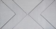 "Lines crossing. 9.5 x18"" Acrylic on Bas-relief Cardboard. 2016"
