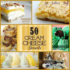 50 Cream Cheese Desserts  http://www.sixsistersstuff.com/2013/04/50-cream-cheese-desserts.html