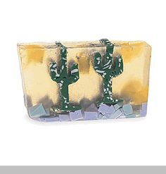 Dos Amigos - Fresh sparkling fruits and gentle desert flowers wrap around Saguaro cacti in the pastel painted desert.