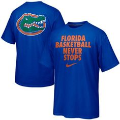 Buy Nike Florida Gators Basketball Never Stops T-Shirt - Royal Blue from the Official Store of the University of Florida Gators. Gators fans buy Nike Florida Gators Basketball Never Stops T-Shirt - Royal Blue. Florida Gators Basketball, Florida Gators College, Fsu Basketball, Basketball Games Online, Outdoor Basketball Court, Girls Basketball Shoes, Basketball Drills, Basketball Leagues, Baseball
