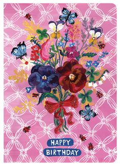 Nathalie Lete Greeting Card - Happy Birthday 02