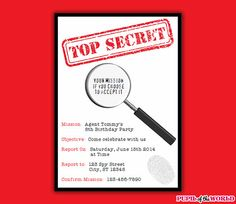 Spy party invitations template spy party spy and party invitation spy party invitations template spy party spy and party invitation templates filmwisefo
